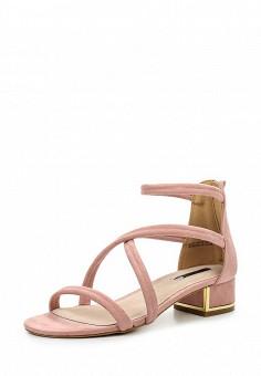 Босоножки, LOST INK, цвет: розовый. Артикул: LO019AWROK28. Женская обувь / Босоножки
