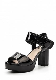 Босоножки, LOST INK, цвет: черный. Артикул: LO019AWRWB29. Женская обувь / Босоножки