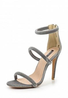 Босоножки, LOST INK, цвет: серый. Артикул: LO019AWTTD78. Женская обувь / Босоножки