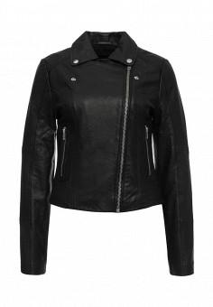 Куртка кожаная, LOST INK, цвет: черный. Артикул: LO019EWOMV41. Женская одежда / Верхняя одежда / Кожаные куртки