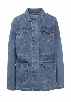 Куртка джинсовая, LOST INK, цвет: синий. Артикул: LO019EWRIS70. Женская одежда / Тренды сезона / Летний деним / Джинсовые куртки