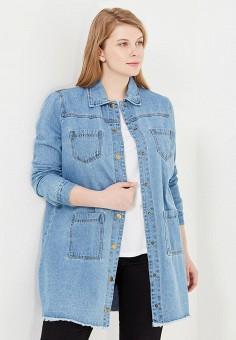 Куртка джинсовая, LOST INK PLUS, цвет: голубой. Артикул: LO035EWSIL29. Женская одежда / Тренды сезона / Летний деним / Джинсовые куртки