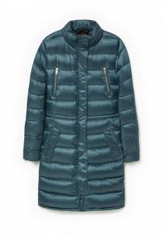 Пуховик, Mango, цвет: бирюзовый. Артикул: MA002EWKWF07. Женская одежда / Верхняя одежда / Пуховики и зимние куртки