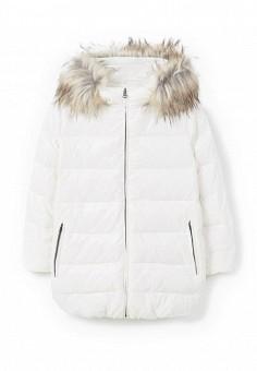 Пуховик, Mango, цвет: белый. Артикул: MA002EWMXW32. Женская одежда / Верхняя одежда / Пуховики и зимние куртки