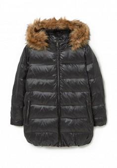 Пуховик, Mango, цвет: черный. Артикул: MA002EWMXY46. Женская одежда / Верхняя одежда / Пуховики и зимние куртки