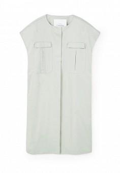Жилет, Mango, цвет: серый. Артикул: MA002EWRSK36. Женская одежда / Верхняя одежда / Жилеты