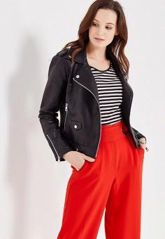 Куртка кожаная, Mango, цвет: черный. Артикул: MA002EWTJY21. Женская одежда / Верхняя одежда / Косухи