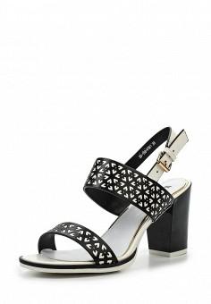 Босоножки, Makfine, цвет: черно-белый. Артикул: MA043AWSJC38. Женская обувь / Босоножки
