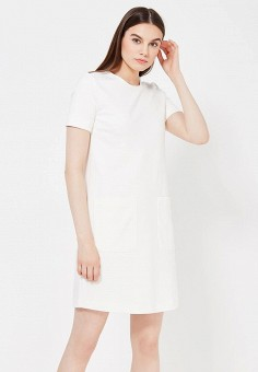 Платье, Max&Co, цвет: белый. Артикул: MA111EWOLS91. Премиум / Одежда / Платья и сарафаны