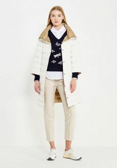 Пуховик, Max&Co, цвет: бежевый, белый. Артикул: MA111EWUCA10. Женская одежда / Верхняя одежда / Пуховики и зимние куртки