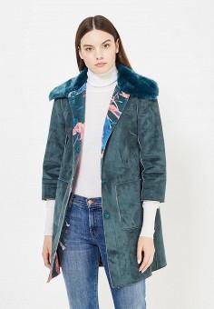 Дубленка, Max&Co, цвет: зеленый. Артикул: MA111EWUCB68. Женская одежда / Верхняя одежда / Шубы и дубленки