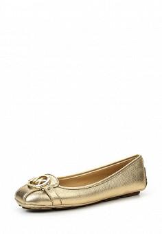 Балетки, Michael Michael Kors, цвет: золотой. Артикул: MI048AWQQS33. Премиум / Обувь / Балетки