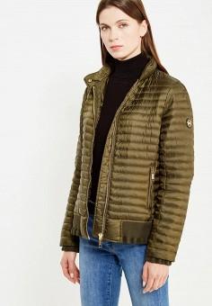 Пуховик, Michael Michael Kors, цвет: хаки. Артикул: MI048EWVBQ71. Премиум / Одежда / Верхняя одежда / Пуховики и зимние куртки