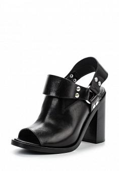 Босоножки, MM6 Maison Margiela, цвет: черный. Артикул: MM004AWOOP40. Премиум / Обувь / Босоножки