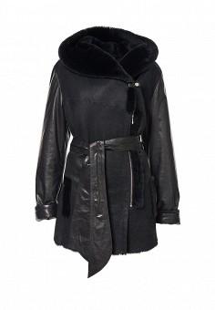 Дубленка, Grafinia, цвет: черный. Артикул: MP002XW0DTEU. Женская одежда / Верхняя одежда / Шубы и дубленки