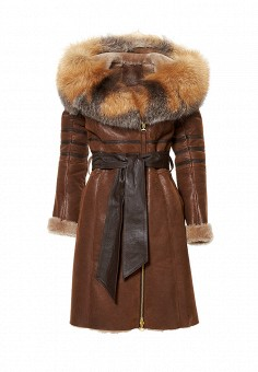 Дубленка Grafinia, цвет: коричневый. Артикул: MP002XW1GIAT. Женская одежда