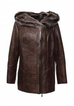 Дубленка, Mondial, цвет: коричневый. Артикул: MP002XW1GIZ3. Женская одежда / Верхняя одежда / Шубы и дубленки