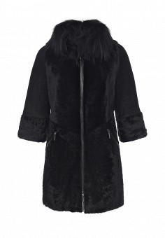 Дубленка, Mondial, цвет: черный. Артикул: MP002XW1GIZ6. Женская одежда / Верхняя одежда / Шубы и дубленки