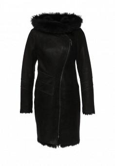 Дубленка, Mondial, цвет: черный. Артикул: MP002XW1GIZA. Женская одежда / Верхняя одежда / Шубы и дубленки