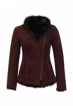 Дубленка, Mondial, цвет: бордовый. Артикул: MP002XW1GIZC. Женская одежда / Верхняя одежда / Шубы и дубленки