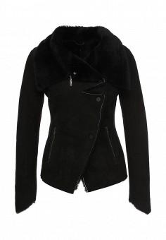Дубленка, Mondial, цвет: черный. Артикул: MP002XW1GIZI. Женская одежда / Верхняя одежда / Шубы и дубленки