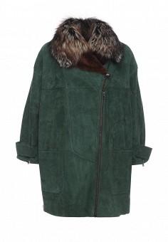 Дубленка, Mondial, цвет: зеленый. Артикул: MP002XW1GJ08. Женская одежда / Верхняя одежда / Шубы и дубленки