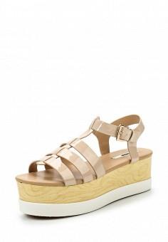 Босоножки, MTNG, цвет: бежевый. Артикул: MT001AWSAY24. Женская обувь / Босоножки