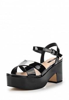 Босоножки, MTNG, цвет: черный. Артикул: MT001AWSBB28. Женская обувь / Босоножки