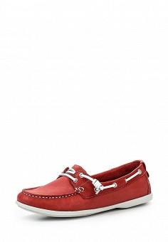 Мокасины, Nobrand, цвет: красный. Артикул: NO024AWRMJ45. Женская обувь / Мокасины и топсайдеры