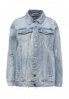 Куртка джинсовая, Noisy May, цвет: голубой. Артикул: NO963EWPQF11. Женская одежда / Верхняя одежда / Джинсовые куртки