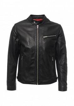 Куртка кожаная, Oakwood, цвет: черный. Артикул: OA002EMPPL31. Мужская одежда / Верхняя одежда / Кожаные куртки