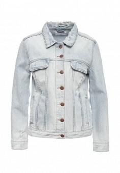 Куртка джинсовая, One Teaspoon, цвет: голубой. Артикул: ON016EWOFR74. Женская одежда / Верхняя одежда / Джинсовые куртки