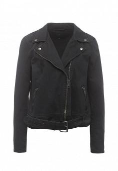 Куртка джинсовая, Only, цвет: черный. Артикул: ON380EWODR19. Женская одежда / Верхняя одежда / Джинсовые куртки