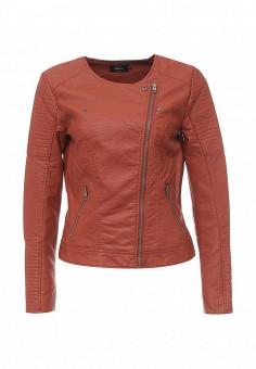 Куртка кожаная, Only, цвет: коричневый. Артикул: ON380EWOGP39. Женская одежда / Верхняя одежда / Косухи