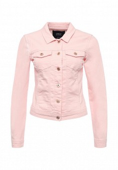 Куртка джинсовая, Only, цвет: розовый. Артикул: ON380EWRNF47. Женская одежда / Верхняя одежда / Джинсовые куртки