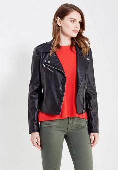 Куртка кожаная, Only, цвет: черный. Артикул: ON380EWULB57. Женская одежда / Верхняя одежда / Косухи
