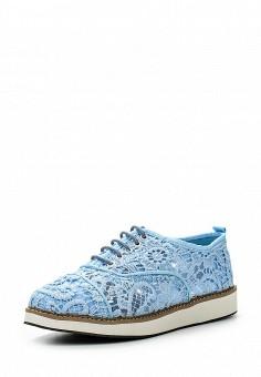 Ботинки, oodji, цвет: голубой. Артикул: OO001AWIMP16. Женская обувь / Ботинки