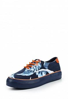Кеды, oodji, цвет: синий. Артикул: OO001AWMGP57. Женская обувь / Кроссовки и кеды