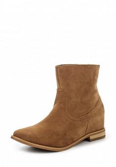 Ботинки, oodji, цвет: коричневый. Артикул: OO001AWMLC31. Женская обувь / Ботинки