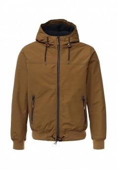 Куртка, oodji, цвет: коричневый. Артикул: OO001EMLEI59. Мужская одежда / Верхняя одежда