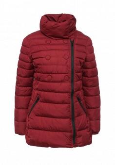 Куртка утепленная, oodji, цвет: бордовый. Артикул: OO001EWLUR26. Женская одежда / Верхняя одежда / Пуховики и зимние куртки