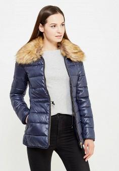 Куртка утепленная, oodji, цвет: синий. Артикул: OO001EWNGK68. Женская одежда / Верхняя одежда / Пуховики и зимние куртки