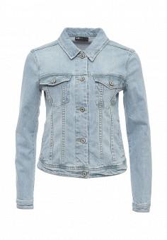 Куртка джинсовая, oodji, цвет: голубой. Артикул: OO001EWSFW35. Женская одежда / Верхняя одежда / Джинсовые куртки