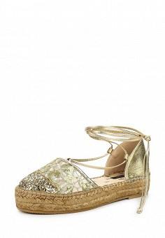 Эспадрильи, Patrizia Pepe, цвет: золотой. Артикул: PA748AWPTM48. Премиум / Обувь / Сандалии