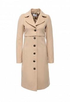 Пальто, Patrizia Pepe, цвет: бежевый. Артикул: PA748EWJLQ40. Премиум / Одежда / Верхняя одежда / Пальто