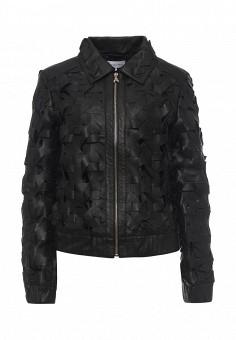 Куртка кожаная, Patrizia Pepe, цвет: черный. Артикул: PA748EWPAF33. Женская одежда / Верхняя одежда / Кожаные куртки