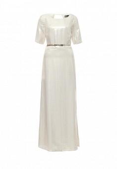Платье, Patrizia Pepe, цвет: золотой. Артикул: PA748EWPTQ33. Премиум / Одежда / Платья и сарафаны