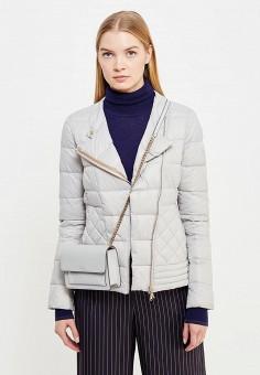 Пуховик, Patrizia Pepe, цвет: серый. Артикул: PA748EWTUR56. Женская одежда / Верхняя одежда / Пуховики и зимние куртки