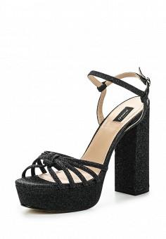 Босоножки, Pinko, цвет: черный. Артикул: PI754AWOIF28. Премиум / Обувь / Босоножки