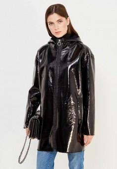 Дубленка, Pinko, цвет: черный. Артикул: PI754EWUKK82. Женская одежда / Верхняя одежда / Шубы и дубленки